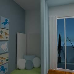 Diseño aplicado a la salud- Belgrano R: Habitaciones para niños de estilo  por Arquimundo 3g.