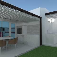Diseño aplicado a la salud- Belgrano R: Jardines en la fachada de estilo  por Arquimundo 3g.