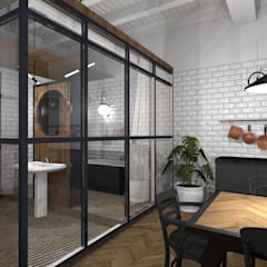 Mieszkanie w kamienicy - Przemyśl: styl , w kategorii Łazienka zaprojektowany przez e-wnetrza.pl - Architekci wnętrz on-line