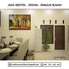 Desain Interior Dapur dan Ruang Makan Bapak Junaedi Blitar: Ruang Makan oleh Ara Architect Studio,