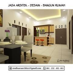 Desain Interior Dapur dan Ruang Makan Bapak Junaedi Blitar:  Dapur by Ara Architect Studio