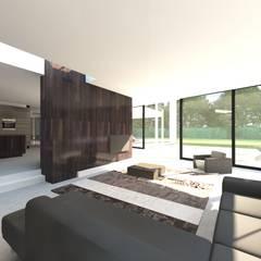 Villa MLVB: moderne Woonkamer door 2architecten