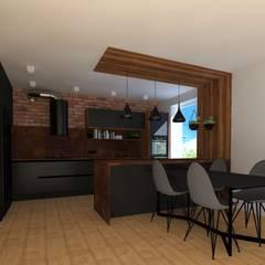 KUCHNIA - INDUSTRAILANA: styl , w kategorii Kuchnia zaprojektowany przez KADA WNĘTRZA S.C.