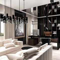 projekt domowego gabinetu: styl , w kategorii Domowe biuro i gabinet zaprojektowany przez ARTDESIGN architektura wnętrz