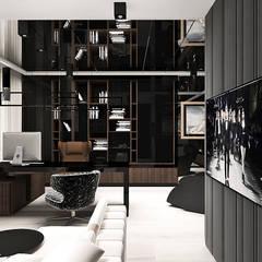 aranżacja gabinetu: styl , w kategorii Domowe biuro i gabinet zaprojektowany przez ARTDESIGN architektura wnętrz