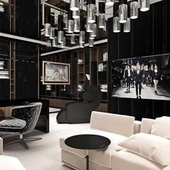 aranżacja domowego biura: styl , w kategorii Domowe biuro i gabinet zaprojektowany przez ARTDESIGN architektura wnętrz