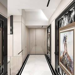 komunikacja na piętrze: styl , w kategorii Korytarz, przedpokój zaprojektowany przez ARTDESIGN architektura wnętrz