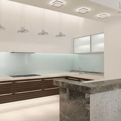 Дизайн интерьера квартиры 134  m2.: Встроенные кухни в . Автор – Inside-Studio Дизайнер интерьера в Праге, Чехия