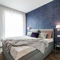 ELEGANCKA PRAGA: styl , w kategorii Sypialnia zaprojektowany przez KODO projekty i realizacje wnętrz