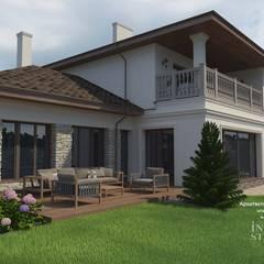 """Загородный дом  """"Уютное гнездышко"""": Дома на одну семью в . Автор – Inside-Studio Дизайнер интерьера в Праге, Чехия"""