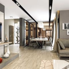 ANTE MİMARLIK  – Orkun E. Syphony Villa:  tarz Oturma Odası