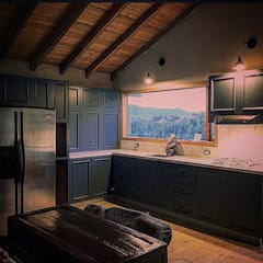 Casa Río Frio : Salas de estilo  por CASA DINAMICA | Arquitectos de Interiores | Bogotá, Rústico Compuestos de madera y plástico