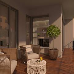 Scandinavian livingroom: Terraços  por LABVIZ