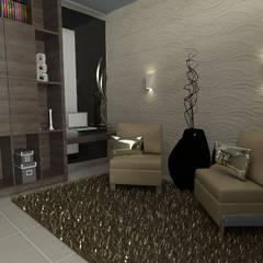 Casa Ciudad del Carmen (sala multimedia): Salas multimedia de estilo  por Arq. Vianey Pineda
