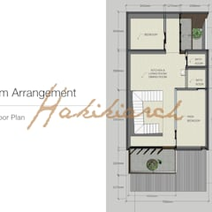 House/Office: Lantai oleh Hakikiarch Architect Freelancer, Modern