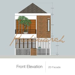House/Office Balkon, Beranda & Teras Modern Oleh Hakikiarch Architect Freelancer Modern