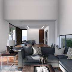 CASA M1: Salas de estilo  por GRUPO VOLTA, Moderno