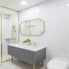 동탄인테리어 동탄메타폴리스 54평 아파트 by.n디자인: N디자인 인테리어의  욕실