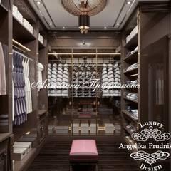 Дизайн-проект интерьера квартиры в стиле ар-деко на Большой Пироговской: Гардеробные в . Автор – Дизайн-студия элитных интерьеров Анжелики Прудниковой