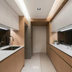 L宅_線。域:  廚房 by 沐禾設計事務所