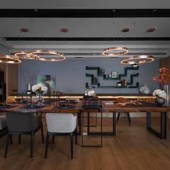 غرفة السفرة تنفيذ 宸域空間設計有限公司 , حداثي