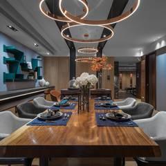 modern Dining room by 宸域空間設計有限公司