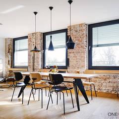 URBANE NEUINTERPRETATION MIT WEITBLICK:  Esszimmer von ONE!CONTACT - Planungsbüro GmbH,