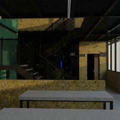 Interior Pasillo, escaleras : Pasillos y recibidores de estilo  por GT-R Arquitectos