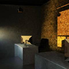 Interior Oficina : Estudios y oficinas de estilo  por GT-R Arquitectos