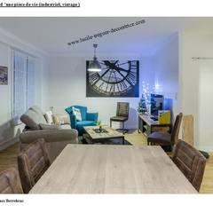 Décoration agencement d'un séjour industriel vintage: Salle à manger de style  par  Lucile Tréguer, décoratrice d'intérieur