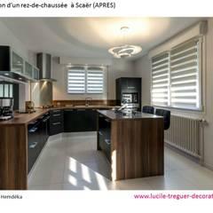 Rénovation d'une cuisine, salle-à-manger: Cuisine intégrée de style  par  Lucile Tréguer, décoratrice d'intérieur
