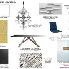 Planches tendances (projets divers): Salle à manger de style  par  Lucile Tréguer, décoratrice d'intérieur