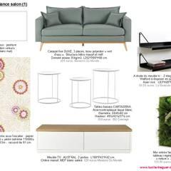 Planches tendances (projets divers): Salon de style  par  Lucile Tréguer, décoratrice d'intérieur