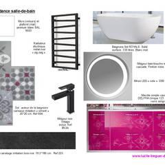Planches tendances (projets divers): Salle de bains de style  par  Lucile Tréguer, décoratrice d'intérieur