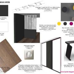 Planches tendances (projets divers): Couloir et hall d'entrée de style  par  Lucile Tréguer, décoratrice d'intérieur