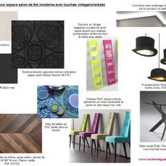 Salle de restaurant: Salle à manger de style  par  Lucile Tréguer, décoratrice d'intérieur