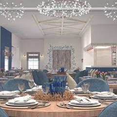 Dining room by Bej Mimarlık, Mediterranean