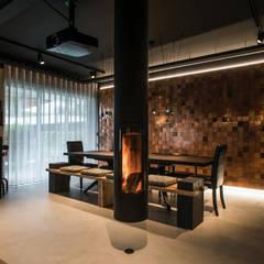 oeiras | iD project Salas de jantar industriais por Santiago | Interior Design Studio Industrial