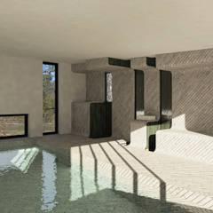 BASSIN DE NAGE: Piscines privées de style  par Florence Gaudin architecte