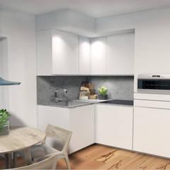 Apartamento T2 São Vicente - Lisboa: Cozinhas  por EU LISBOA