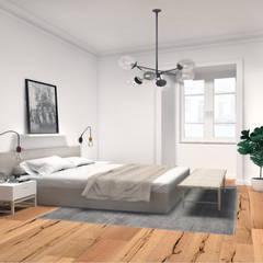 Apartamento T2 São Vicente - Lisboa: Quartos  por EU LISBOA