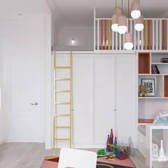 غرفة الاطفال تنفيذ Архитектурная студия 'АВТОР'