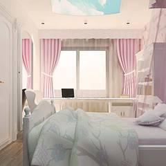 ANTE MİMARLIK  – Karadavut Villa:  tarz Kız çocuk yatak odası