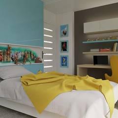 ANTE MİMARLIK  – Karadavut Villa:  tarz Erkek çocuk yatak odası