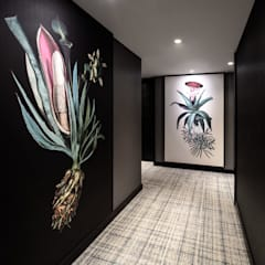 Corridor Hyatt Regency Amsterdam - Artwork and carpet by Rive Roshan:  Hotels by Rive Roshan