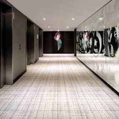 Lift Landing Hyatt Regency Amsterdam - Mirror artwork, artworks and carpet by Rive Roshan:  Hotels by Rive Roshan