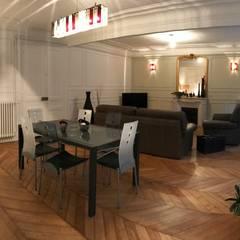 Appartement - Paris 5è - Atelier Florent: Salle à manger de style  par ATELIER FLORENT - Architectes d'Intérieur Paris