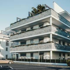 Prospetto Sud-Est: Condominio in stile  di Studio Corbetta architettura e design