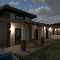 progetto di un villino bifamiliare : Casa di campagna in stile  di Ivo Astazi - Architecture & Design