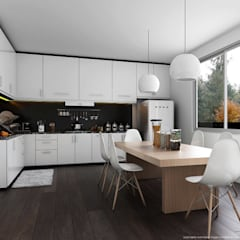 Interior:  Built-in kitchens by Anamorpho Studio